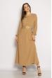 Приталенное женское платье 640F004 бежевый