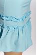 Платье на тонких бретелях 103P005 голубой