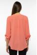 Блуза женская однотонная 121P015 коралловый