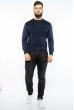 Пуловер в мелкий принт 604F002-1 чернильный