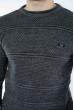 Мужской однотонный джемпер 520F7036 серый