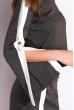 Костюм женский с разрезами на рукаве 120PALL1123 серо-белый