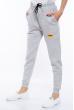Брюки спортивные женские  85F10107 светло-серый меланж