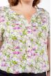 Блуза женская с цветочным принтом  118P021-4 молочно-лиловый