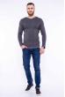 Пуловер однотонный 606F002 серый