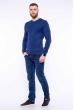Пуловер однотонный 606F002 сизый