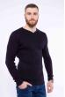 Пуловер однотонный 606F002 чернильный