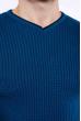 Пуловер однотонный 606F002 изумрудный