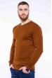 Пуловер однотонный 606F002 светло-коричневый