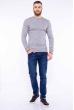 Пуловер однотонный 606F002 стальной