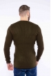 Пуловер однотонный 606F002 хаки