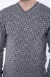 Джемпер с фактурной вязкой  192P6025 светло-серый
