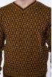 Джемпер с фактурной вязкой  192P6025 песочно-коричневый