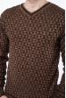 Джемпер с фактурной вязкой  192P6025 коричневый