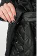 Пальто женское стеганное, с мехом 69PD1059 черный