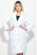 Пальто женское стеганное, с мехом 69PD1059 белый