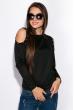Джемпер женский с открытыми плечами 120PKLD1656 черный