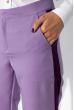 Брюки женские с лампасами 120PSE018 сиренево-фиолетовый