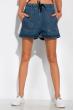 Джинсовые шорты на резинке с завязками 162P002 синий