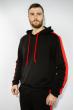 Костюм спортивный мужской 118P1008 черно-красный
