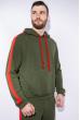Костюм спортивный мужской 118P1008 темно-зеленый / красный