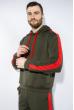 Костюм спортивный мужской 118P1008 хаки / красный