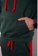 Костюм спортивный мужской 118P1008 изумрудный / красный