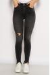 Джинсы Skinny с разрезом на колене 638F008 черный