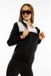 Джемпер-обманка женский 618F210 бело-черный