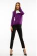 Джемпер-обманка женский 618F210 бело-фиолетовый