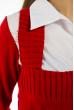 Джемпер-обманка женский 618F210 бело-красный