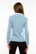 Джемпер-обманка женский 618F210 бело-голубой