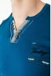 Батник мужской с надписями 81PD7086 синий