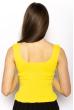 Женский однотонный топ 630F004 желтый