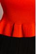 Женский однотонный топ 630F004 красный