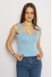 Женский однотонный топ 630F004 голубой