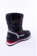 Сапоги-дутики 186PB227 junior черно-бордовый