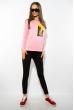 Лонгслив женский с принтом 85F10154-2 розовый