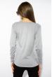 Лонгслив женский с принтом 85F10154-2 светло-серый