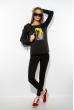 Лонгслив женский с принтом 85F10154-2 черный