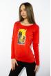 Лонгслив женский с принтом 85F10154-2 красный
