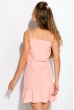 Платье с легкими воланами 103P004 розовый
