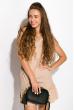 Платье с легкими воланами 103P004 светло-бежевый