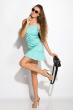 Платье с легкими воланами 103P004 бирюзовый