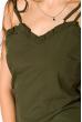 Платье с легкими воланами 103P004 хаки