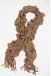 Базовый женский шарф 120PROS06775 серо-бежевый