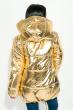 Куртка женская, стильная с капюшоном  72PD222 золото