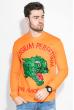 Свитшот мужской с животным принтом  82PD944 оранжевый