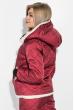 Костюм женский с искусственным мехом 72PD139 бордо