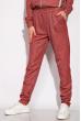 Спортивный костюм с капюшоном 11P487 бордовый / меланж